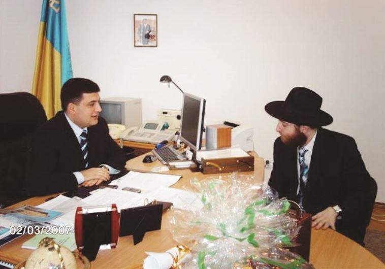 """""""הוא חלק מדור חדש במדינה חדשה"""". עם הרב שאול הורוביץ, 2007"""