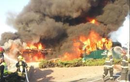 לוחמי האש בפיגוע בירושלים