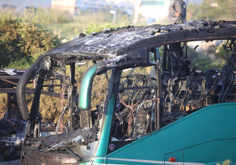 פיצוץ ושריפה באוטובוס בירושלים. צילום: מרק ישראל סלם