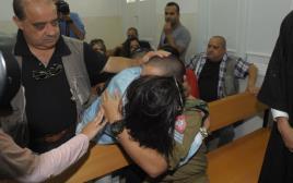 אלאור אזריה והוריו בבית הדין הצבאי