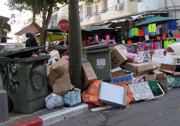 זבל ברחובות תל אביב