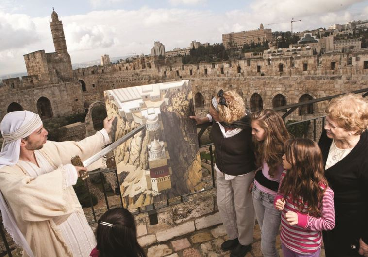 """חזיונות במגדל דוד. צילום: יח""""צ"""