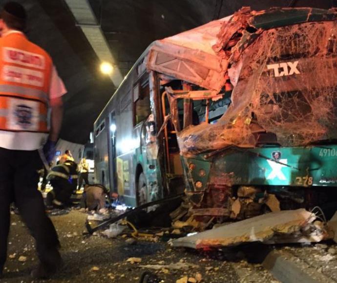 תאונת אוטובוס במנהרות הכרמל