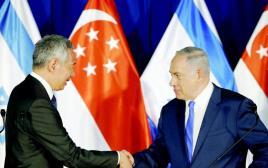 נתניהו עם ראש ממשלת סינגפור, לי שיאן לונג
