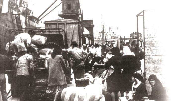 ערביי חיפה נוטשים את העיר, 1948