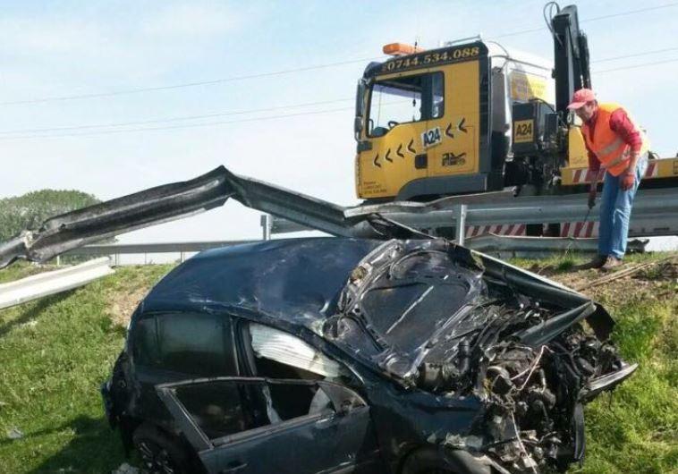 זירת התאונה ברומניה