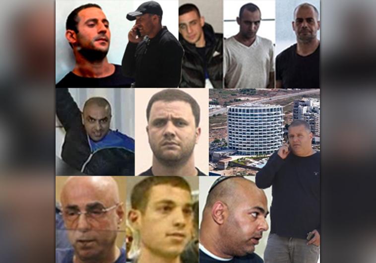 מפת ארגוני הפשיעה בישראל. צילום:פוסטה