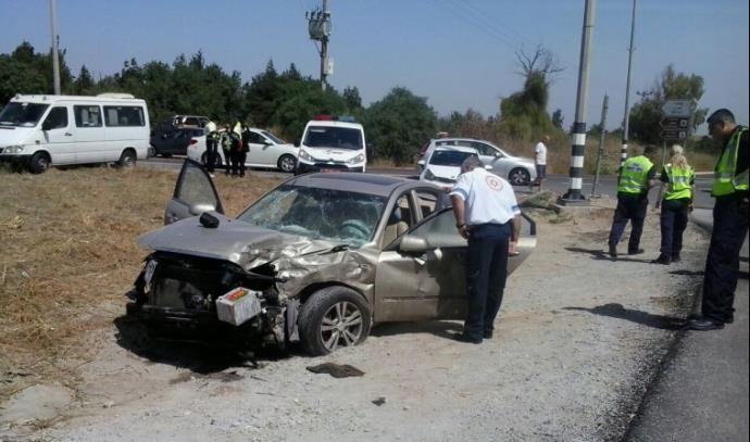תאונת דרכים סמוך לקיבוץ בארי