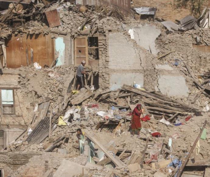 קטמנדו לאחר רעידת האדמה, מאי 2015