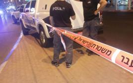 ניידת משטרה באירוע דקירה באילת