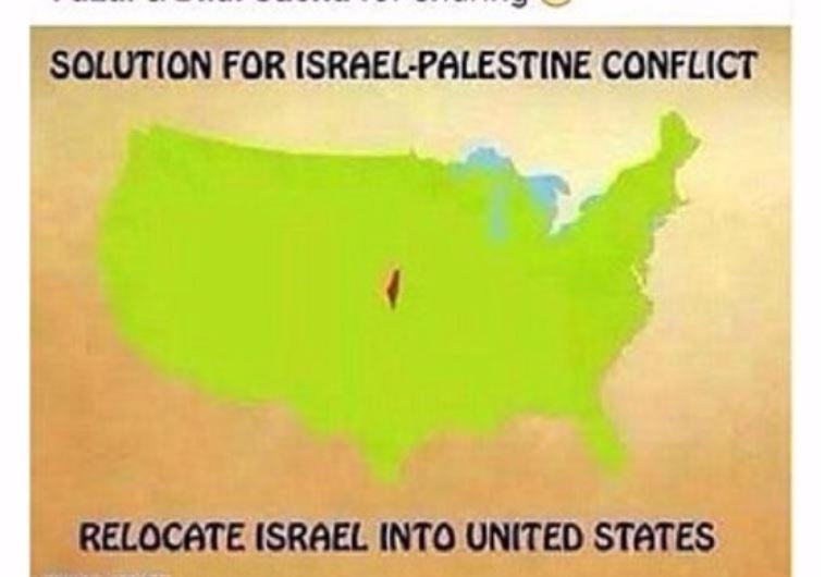 """הפוסט שפרסמה שה. """"לעשות טרנספר לישראלים"""". צילום מסך: הרשתות החברתיות"""