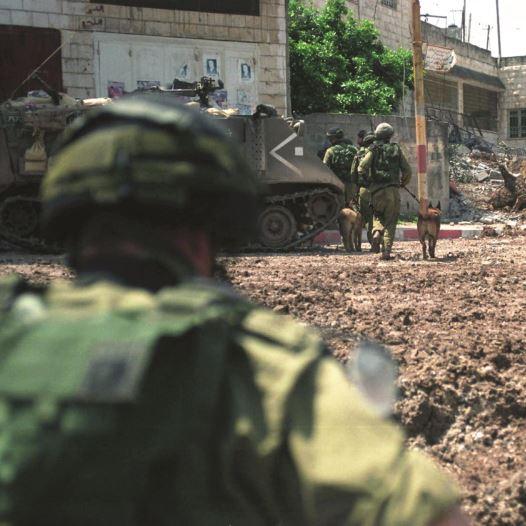בקרב על ג'נין במהלך מבצע חומת מגן (צילום: דובר צה''ל)