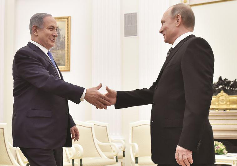 """""""מפגש חשוב ביותר"""". נתניהו ופוטין, בחודש שעבר. צילום: רויטרס"""
