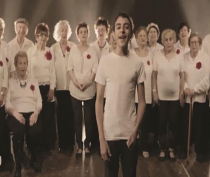 משתתפי הסרטון עבור ניצולי השואה
