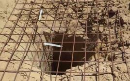 המנהרה שנחשפה בגבול רצועת עזה