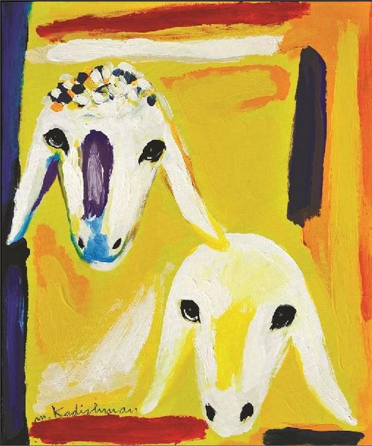 אחד מציוריו של מנשה קדישמן