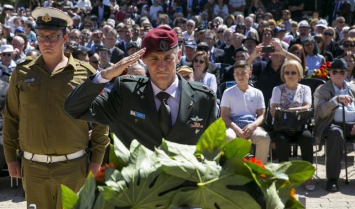 יאיר גולן בטקס לזכר נספי השואה