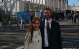 """נתן ורננה מאיר לפני מטרה האו""""ם בניו יורק"""
