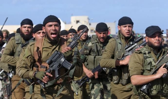 לוחמי הזרוע הצבאית של חמאס
