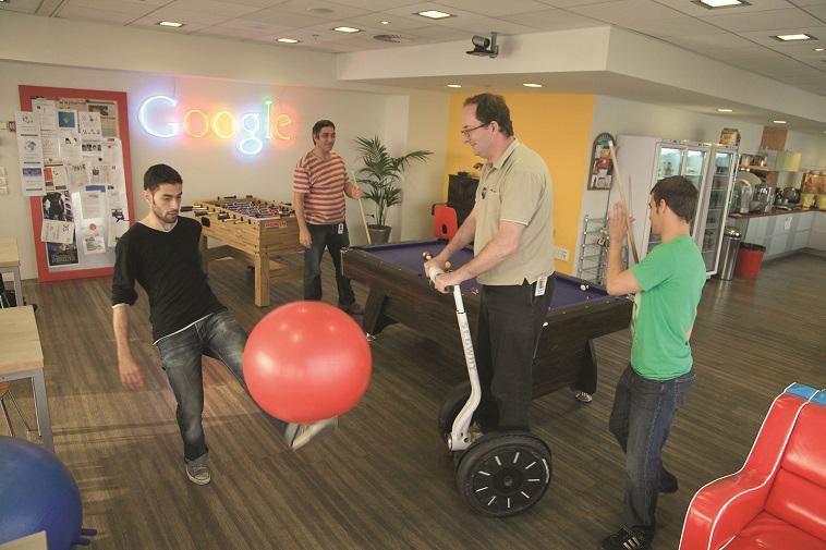 """""""המשרד המעוצב בעולם"""". גוגל תל אביב. צילום: אריק סולטן"""