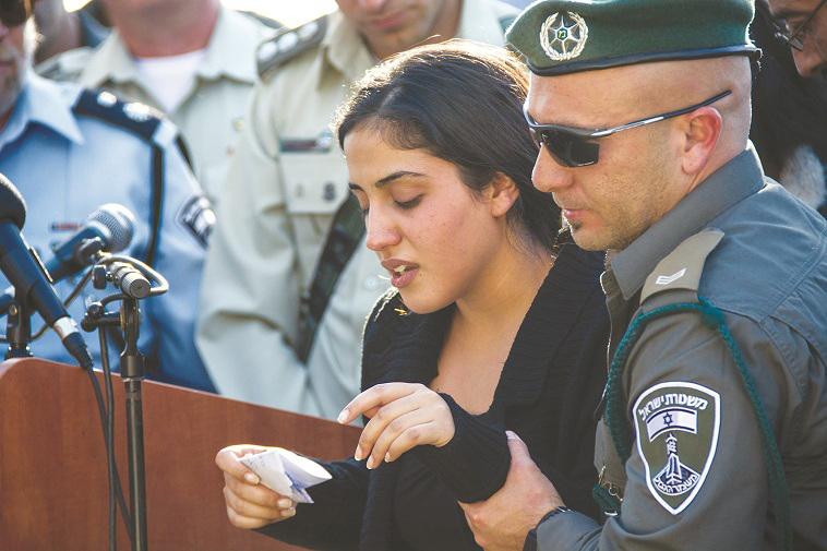"""מור כהן, אחותה של הדר כהן ז""""ל. צילום: דוברות המשטרה"""