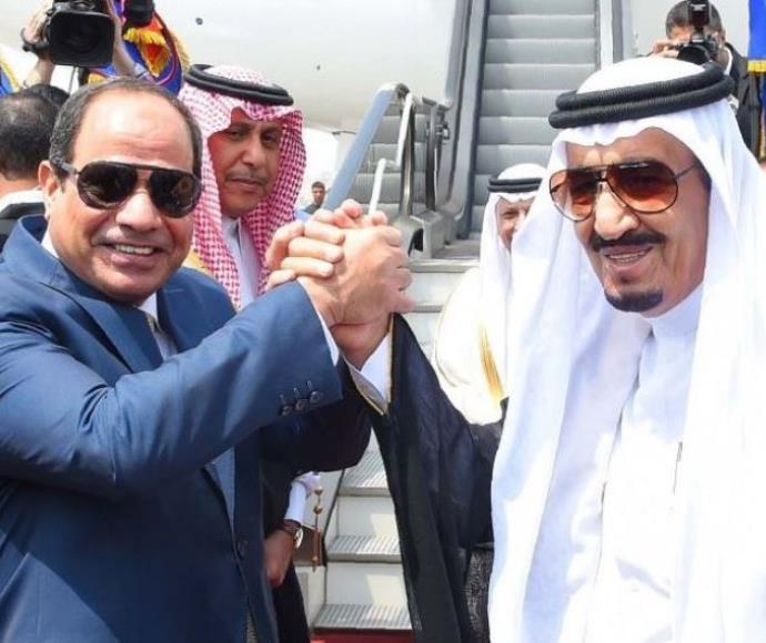 נשיא מצרים א-סיסי ומלך סעודיה סלמן