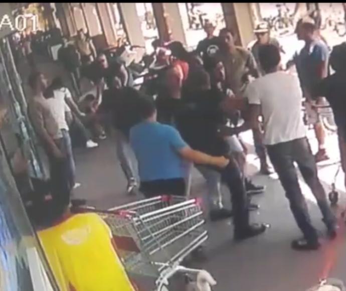 קטטה בין שוטרים לאזרח שסרב להזדהות