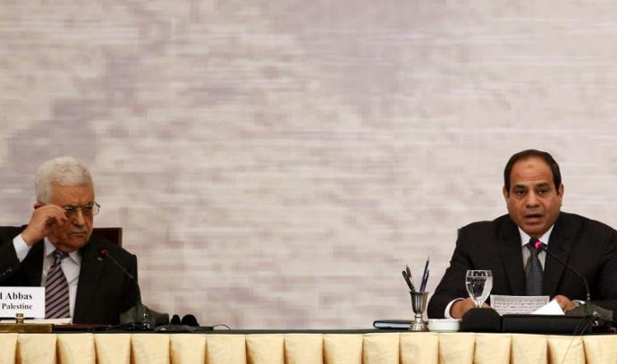 א-סיסי עם אבו מאזן, 2014