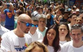 אמיר אוחנה ומירי רגב במצעד הגאווה