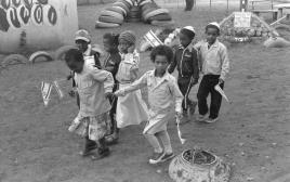ילדים יוצאי אתיופיה בגבעת אולגה, 1984