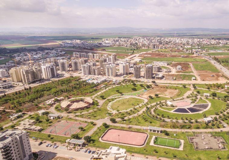 הפארק העירוני בשכונת רובע יזרעאל בעפולה