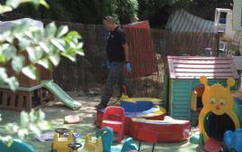 פיצוץ חזיז ליד גן ילדים בתל אביב