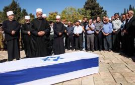 משפחתו של החייל מג'די חלבי בהלווייתו, 2012