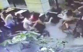תיעוד פיגוע הירי במתחם שרונה בתל אביב