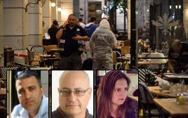 אילנה נבעה, מיכאל פייגה ועידו בן ארי שנרצחו בפיגוע בתל אביב