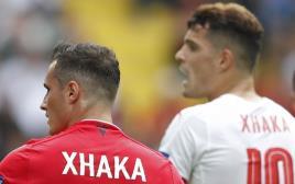 האחים שאקה במשחק שוויץ-אלבניה, יורו 2016