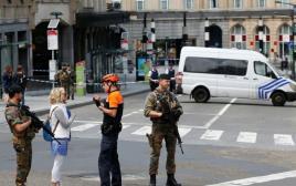 שוטרים בבריסל, בלגיה. ארכיון