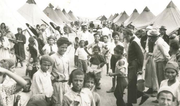 ילדים עולי תימן במעברות בשנת 1950
