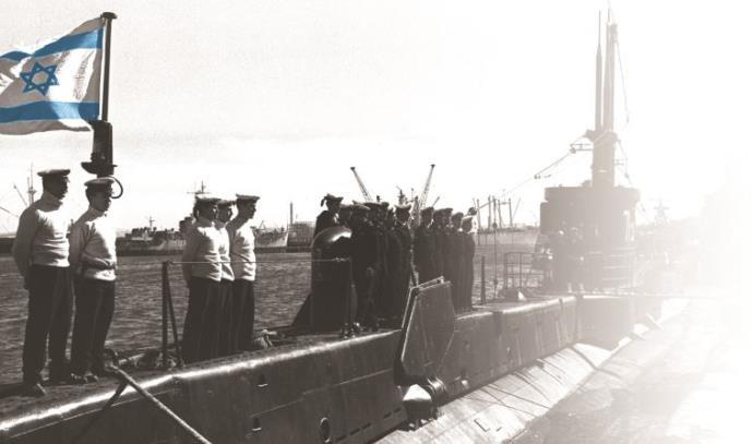 הצוללת תנין מגיעה לנמל ישראל