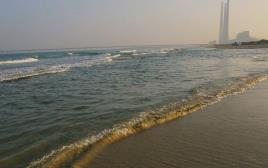 חוף הים, חדרה. ארכיון