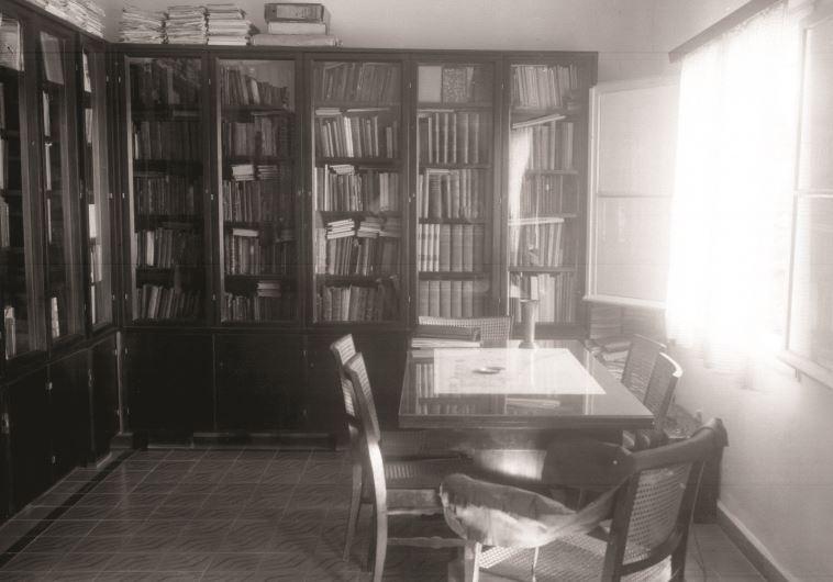 חדר העבודה של ברל כצנלסון. צילום: קלוגר זולטן, לע''מ.