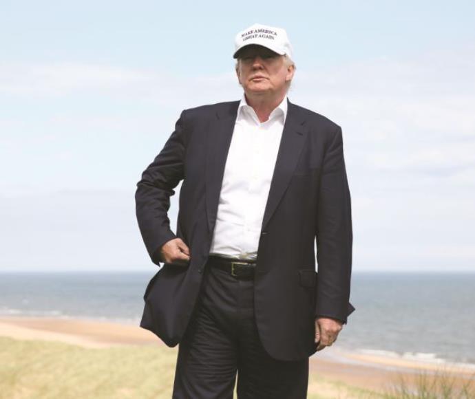 דונלד טראמפ בביקור בסקוטלנד