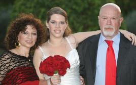 """ליטל בוקסנבאום ז""""ל עם הוריה משה ורודי"""
