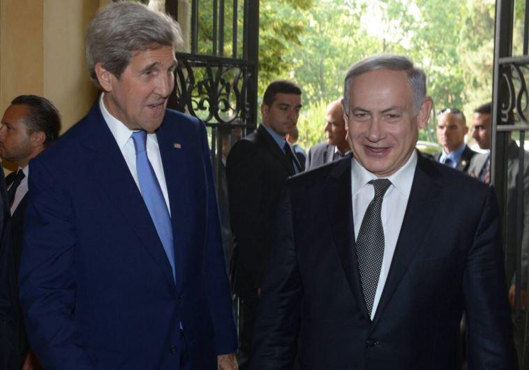 """""""יהפוך את ישראל למדינה דו לאומית"""". קרי ונתניהו. צילום: רויטרס"""