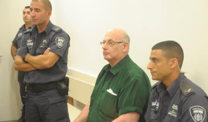 שמעון קופר בבית המשפט בעת הקראת הכרעת הדין