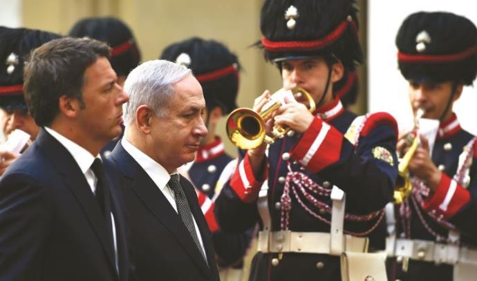 ראש הממשלה נתניהו וראש ממשלת איטליה רצני