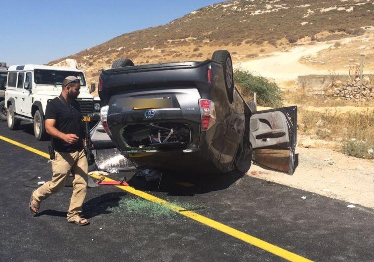 """פיגוע ירי סמוך לחברון. צילום: דוברות כב""""ה יו""""ש תחנה אזורית יהודה"""