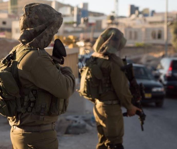 חיילים באזור חברון