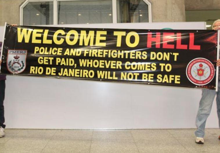 הפגנת שוטרים בריו דה ז'נרו