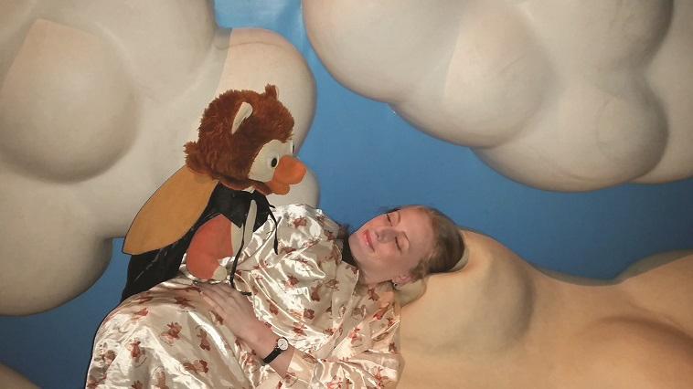 """דיאלוג בחשיכה. לילה במוזיאון הילדים. צילום: אלינור חיון, יח""""צ"""